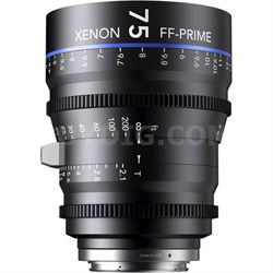 75MM Xenon Full Frame 4K Prime XN 2.1 / 75 Feet Lens for PL Mounts