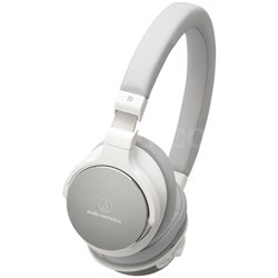 Wireless On-Ear High-Resolution Audio Headphones - White