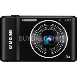 ST66 16 MP 5X Compact Digital Camera - Black