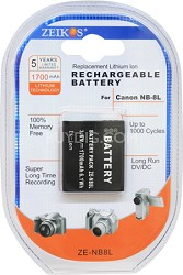 1700mAh Battery Pack NB-8L for PowerShot A2200 & A3000 IS and A3100 IS