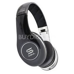 SOUL by Ludacris SL150CB High-Definition On-Ear Headphones (Black/Chrome)