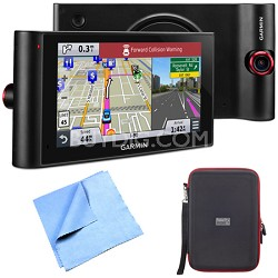 "nuviCam LMTHD 6"" GPS w/ Built-in Dashcam, Maps, HD Traffic Hardshell Case Bundle"