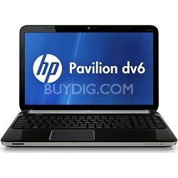 """Pavilion 15.6"""" DV6-6C12NR Entertainment Notebook - AMD Quad-Core A6-3420M Proc."""