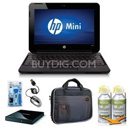"Mini 10.1"" 110-3530NR Black Netbook Essentials and Optical Drive Bundle"