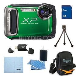 Finepix XP100 14MP CMOS Digital Camera 8 GB Bundle (Green)