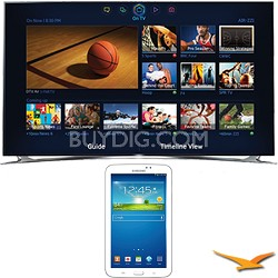 "UN65F8000 - 65"" 1080p 240hz 3D Smart Wifi LED HDTV - 7-Inch Galaxy Tab 3 Bundle"