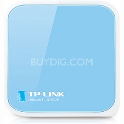 150Mbps Wireless N Nano Router Travel Router - TL-WR702N