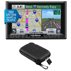"nuvi 58LMT 5"" Essential Series 2015 GPS System with Maps & Traffic Case Bundle"
