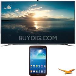 """UN55F9000 - 55"""" 4K Ultra HD 120Hz 3D Smart LED TV - 8-Inch Galaxy Tab 3 Bundle"""