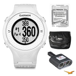 Approach S4 GPS Hi-res Touchscreen White Golf Watch, Warranty, and Case Bundle