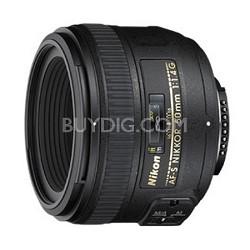 AF-S DX FX Full Frame NIKKOR 50mm f/1.4G Lens