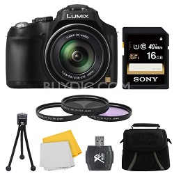 LUMIX DMC-FZ70 16.1MP 60x Optical Stabilized Zoom Digital Camera 16GB Bundle