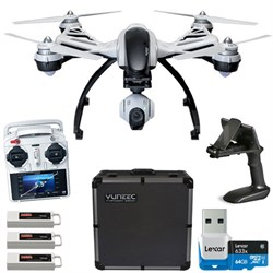 Q500+ Typhoon Quadcopter Drone 3-Axis Gimbal Camera w/ 3 Batteries and 64GB Card