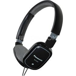 RP-HXC40-K Light Weight On Ear Headphones with iPhone Controller (Black)
