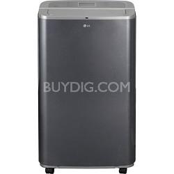 LP1311BXR 13,000 BTU Portable Air Conditioner w/ Remote - Black/Metallic Silver