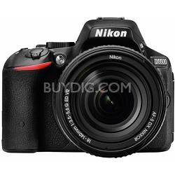 D5500 Black DX-format DSLR Camera w/ AF-S NIKKOR 18-140mm f/3.5-5.6G ED VR Lens