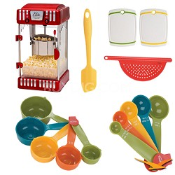 Classic Tabletop Retro-Style 2-1/2-Ounce Kettle Popcorn Popper Deluxe Bundle