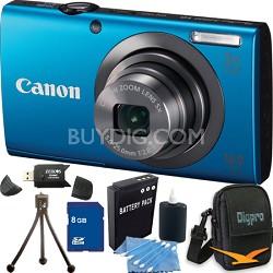 PowerShot A2300 16MP Blue Digital Camera 8GB Kit
