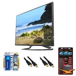 """42LA6200 42"""" 1080p 3D Smart TV 120Hz Dual Core 3D Direct LED Value Bundle"""