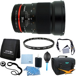 35mm F/1.4 AS UMC Wide Angle Lens for Nikon (RK35MAF-N) - Lens Kit Bundle