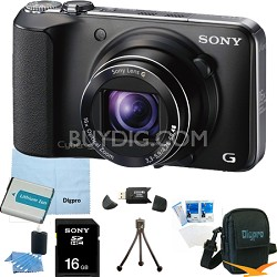 Cyber-shot DSC-HX10V 18.2 MP 16x Zoom 3D Sweep HD Video 16GB Bundle (Black)