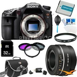 SLTA77V - a77 Digital SLR 24.3 MP Body and 50mm f1.8 Lens Bundle