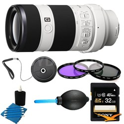 70-200mm F4 G OIS Interchangeable E-Mount Lens for Sony Alpha Cameras Bundle
