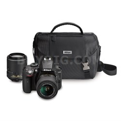 D3300 24.2 MP DSLR with 18-55 VR II and 55-200 VR II Lenses & Case (Refurbished)
