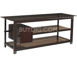 BFV157 - Tempered-glass shelves A/V Stand for TVs up to 60""