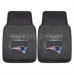 NFL New England Patriots Vinyl Heavy Duty Car Mat - Set of Two