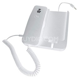 PIRTR60WT Handheld Phone and Desktop Dock for iPhone - White