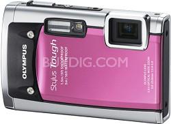 Stylus Tough 6020 Waterproof Shockproof Freezeproof Digital Camera (Pink)-