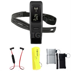 Vivofit Fitness Band Bundle with Heart Rate Monitor (Black) w/ Power Bank Bundle
