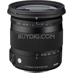 17-70mm F2.8-4 DC Macro OS HSM Lens for Nikon Mount Digital SLR Cameras OPEN BOX