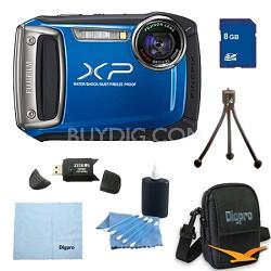Finepix XP100 14MP CMOS Digital Camera 8 GB Bundle (Blue)