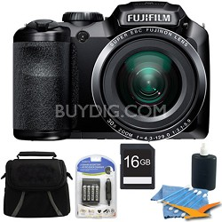 FinePix S4800 16 MP 3-inch LCD 16GB Digital Camera Kit
