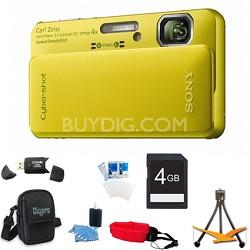Cyber-shot DSC-TX10 Green Digital Camera 4GB Bundle