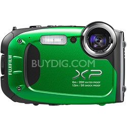 FinePix XP60 16 MP Waterproof Shockproof Freezeproof Digital Camera - Green