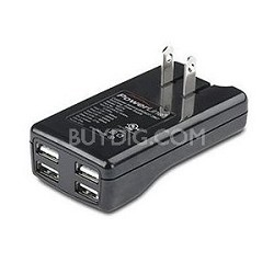 2Amp Four Port USB AC Power Adapter