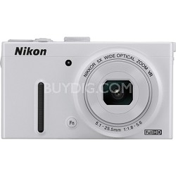 "COOLPIX P330 12.2MP 3.0"" LCD White Digital Camera with 1080p HD Video"
