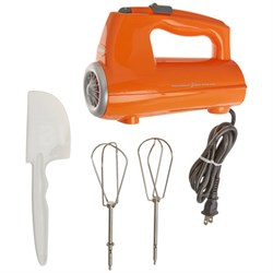 CHM-3ORFR 3-Speed Electronic Hand Mixer, Orange - Manufacturer Refurbished
