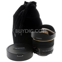 8mm f/3.5 Aspherical Fisheye Lens for Canon DSLR Cameras