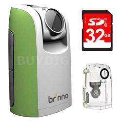 Time Lapse & Stop Motion HD Video Camera - Green w/ 32GB Bundle