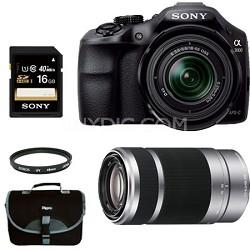 Alpha A3000 Digital SLR with 18-55mm Lens + 55-210 Zoom Lens Bundle Deal