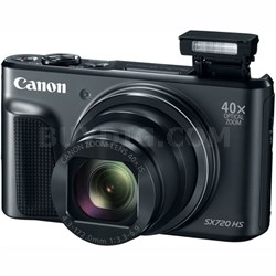 PowerShot SX720 HS 20.3MP 40x Optical Zoom HD 1080p CMOS Digital Camera (Black)