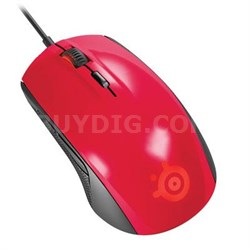 Rival 100 Gaming Red Mouse in Red - 62337