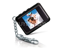 "DP161BLK 1.5 "" Keychain Digital Photo Frame (Stores 120 Pictures) (Black)"