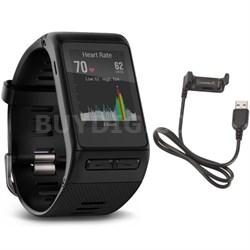 vivoactive HR GPS Smartwatch - X-Large Fit (Black) USB Charging Cable Bundle