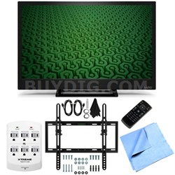 D24H-C1- 24-Inch Full HD 720p 60Hz LED HDTV Flat/Tilt Wall Mount Bundle
