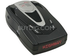 XTR-555 Radar/Laser Detector w/ Real Voice Alerts and Red Text Display